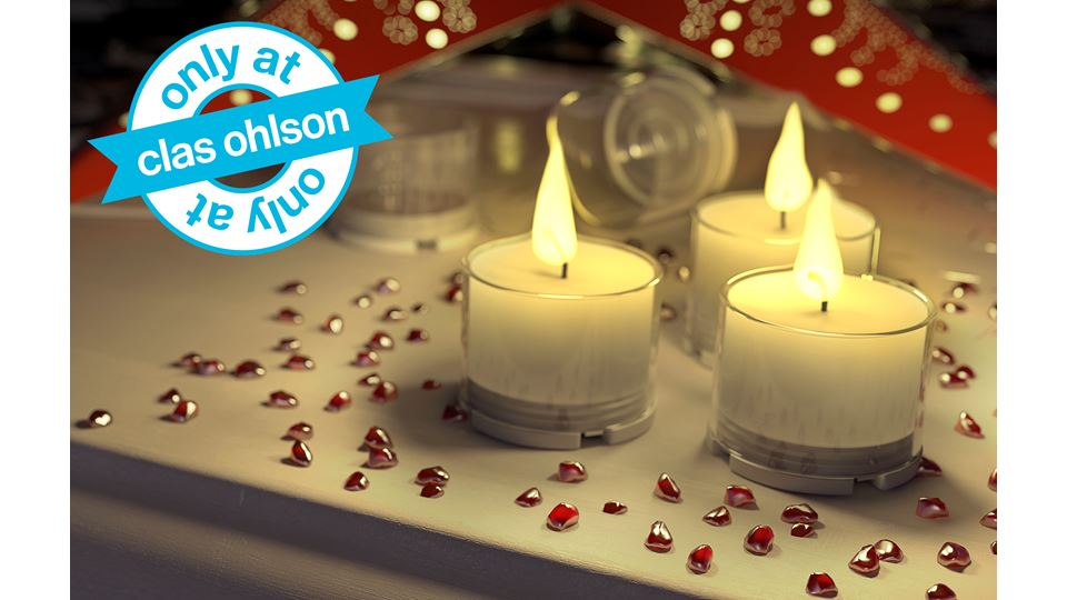 ClasOhlson eco labelled tea light only at 44-1290